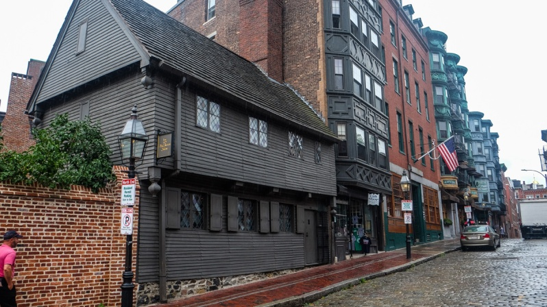 the paul revere house in north end Boston