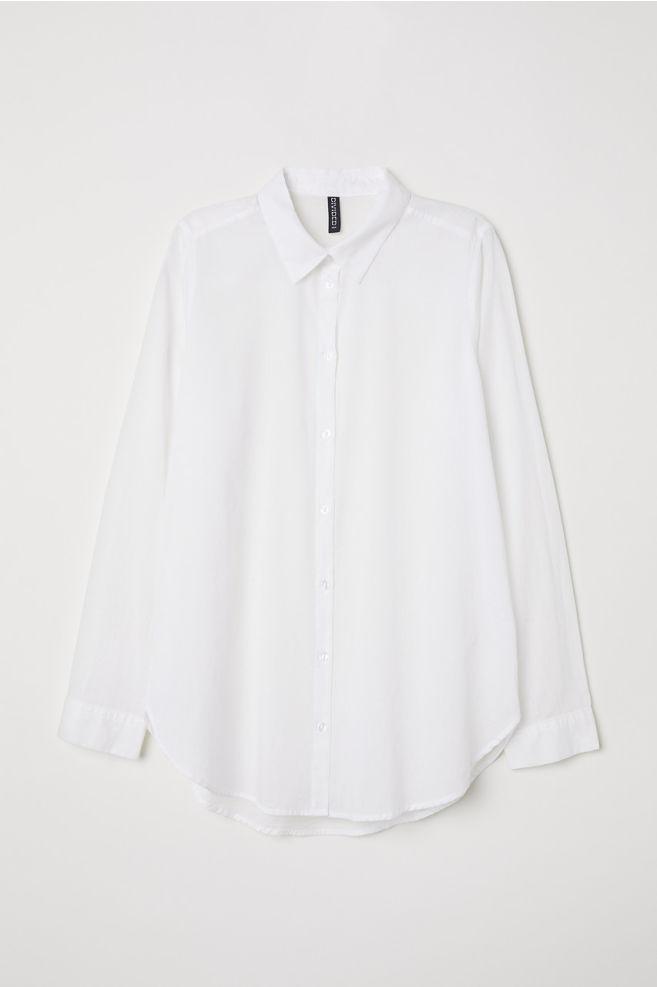 basic white blouse, H&M