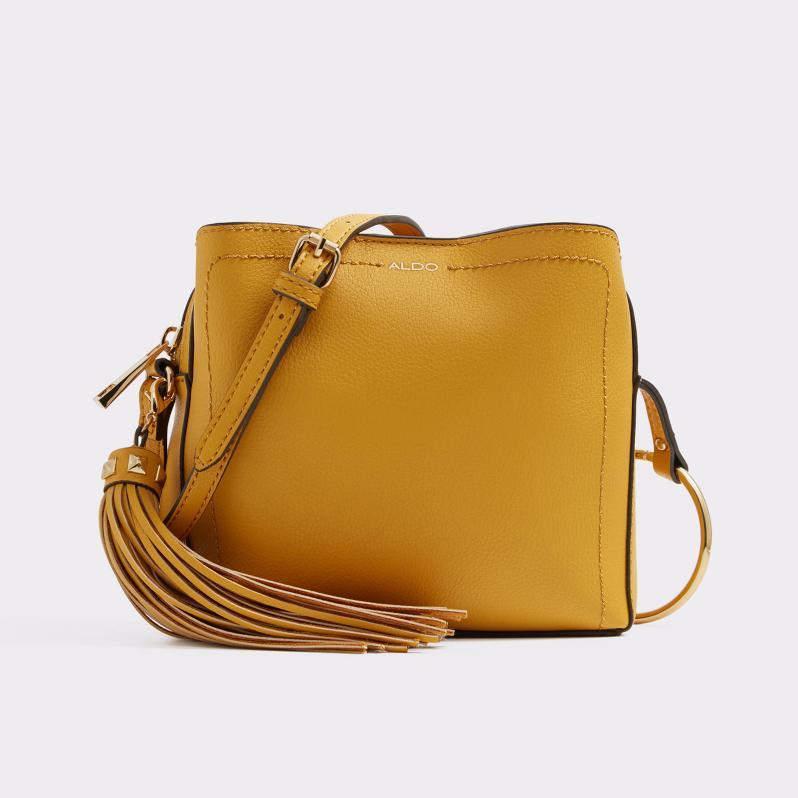 mustard yellow cross body bag from aldo's