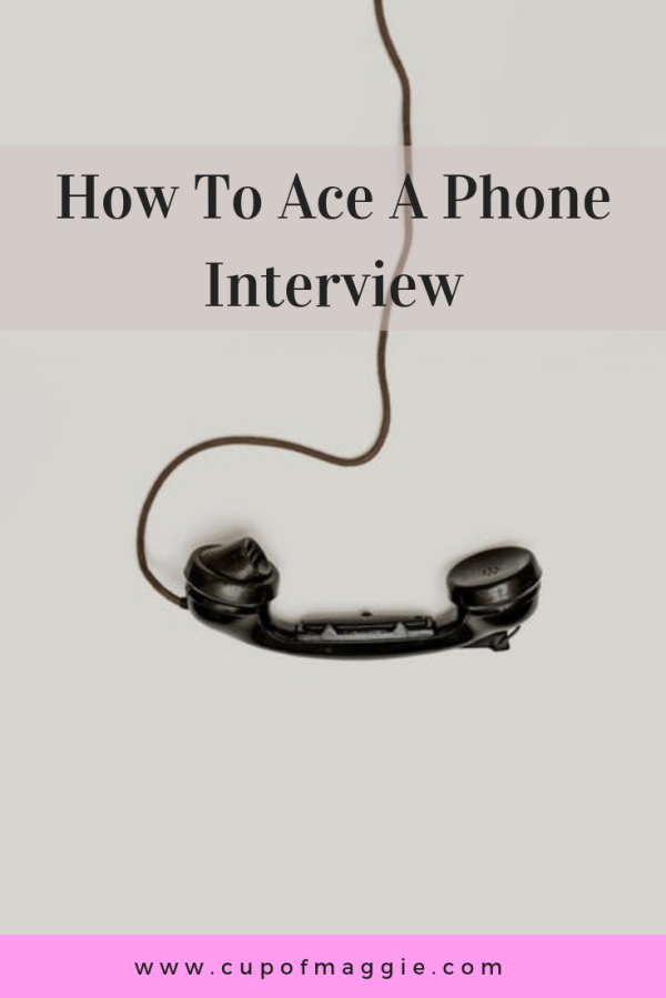 how to ace a phone interview