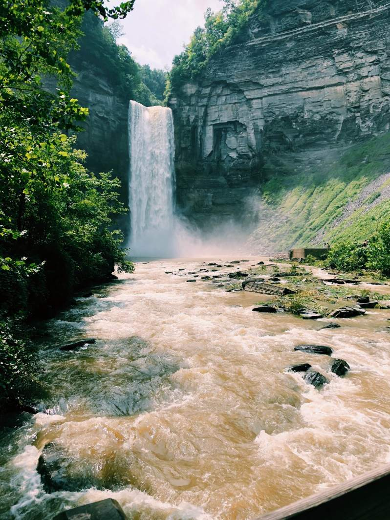 waterfall, taughannock state park