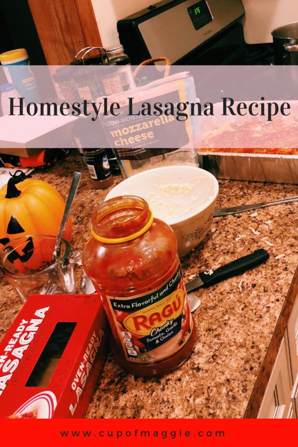 Homestyle Lasagna Recipe